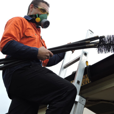 how to clean your chimney flue